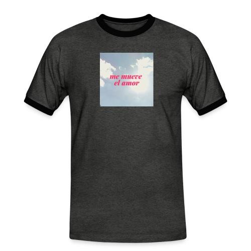 Me mueve el amor - Camiseta contraste hombre