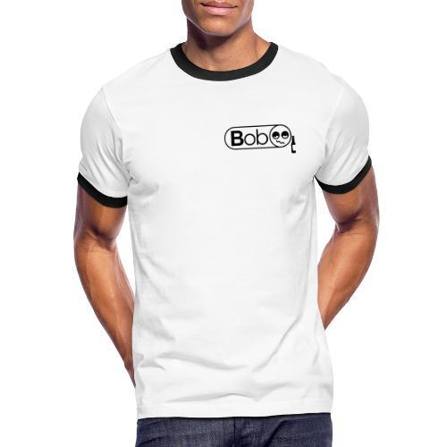 bob logo vector courbe - T-shirt contrasté Homme