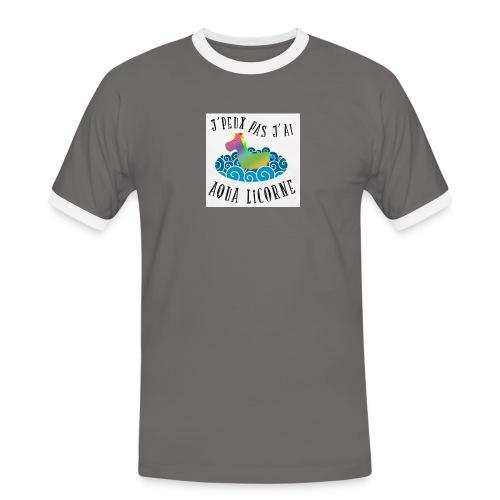 image - T-shirt contrasté Homme