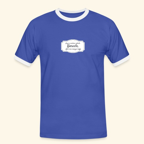 Verdens sødeste kæreste - Herre kontrast-T-shirt