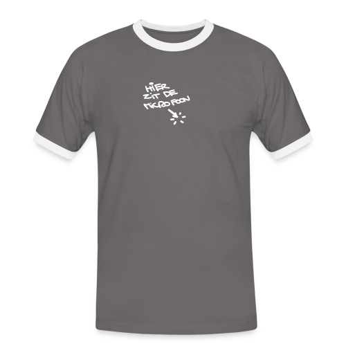 hier zit de microfoon - Men's Ringer Shirt