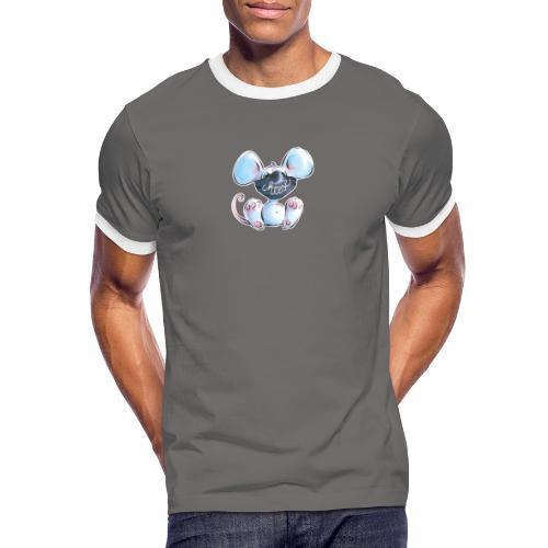 Maskenmaus - Männer Kontrast-T-Shirt