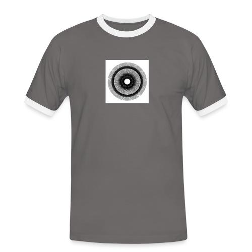 Mándala sol. - Camiseta contraste hombre