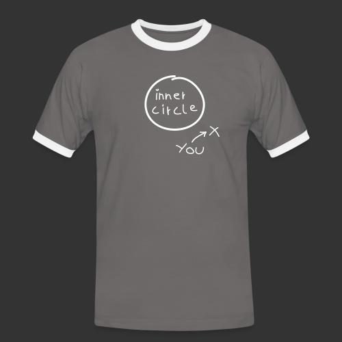 Inner Circle Handschrift - Männer Kontrast-T-Shirt