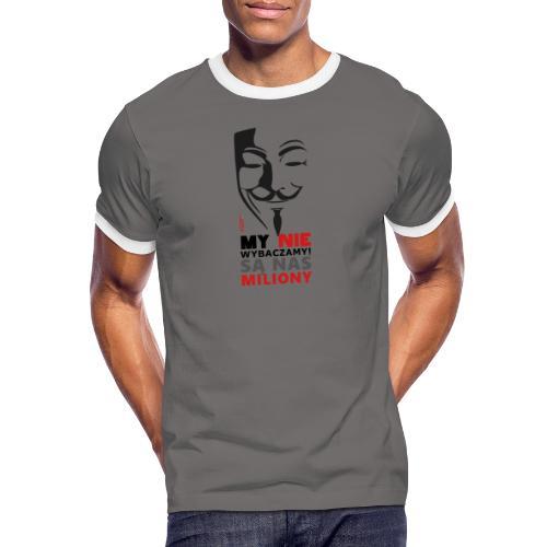 Są Nas MILIONY - kolejny motyw Akademia Wywiadu™ - Koszulka męska z kontrastowymi wstawkami