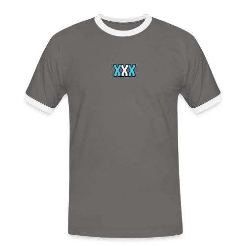 XXX (Blue + White) - Men's Ringer Shirt