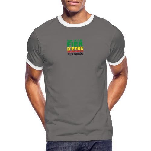 Logo fier d'etre kreol 974 ker kreol - Rastafari - T-shirt contrasté Homme