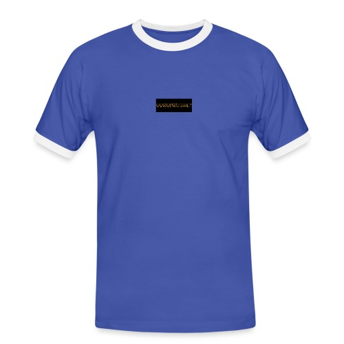 orange writing on black - Men's Ringer Shirt