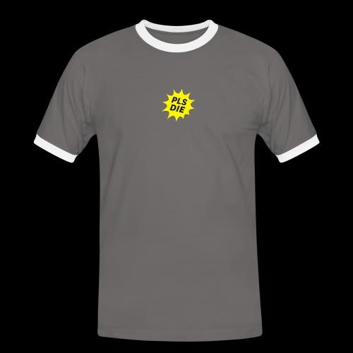 PLSDIE Hatewear - Männer Kontrast-T-Shirt