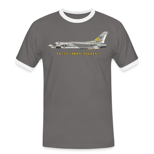 F-8J Crusader VF-53 Iron Angels - Men's Ringer Shirt