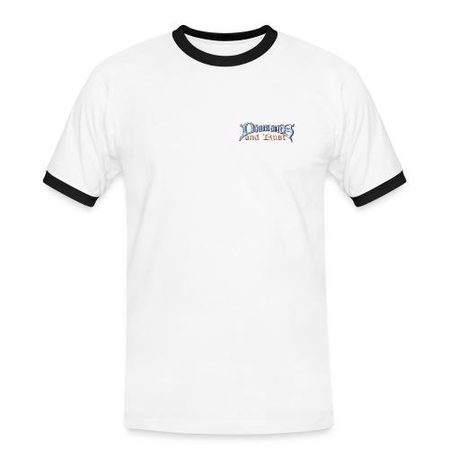 logo nurschrift - Männer Kontrast-T-Shirt