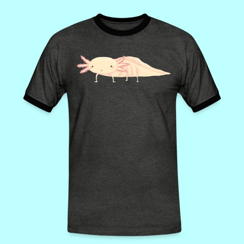 Axolotl - Männer Kontrast-T-Shirt
