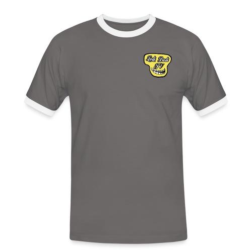 LadiDadi TV Logo - Männer Kontrast-T-Shirt