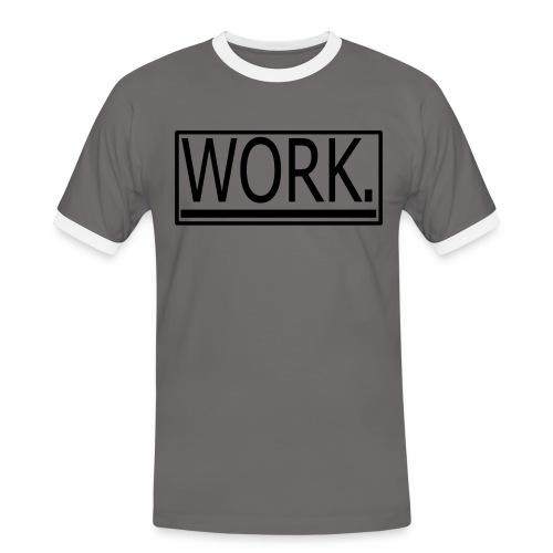 WORK. - Mannen contrastshirt
