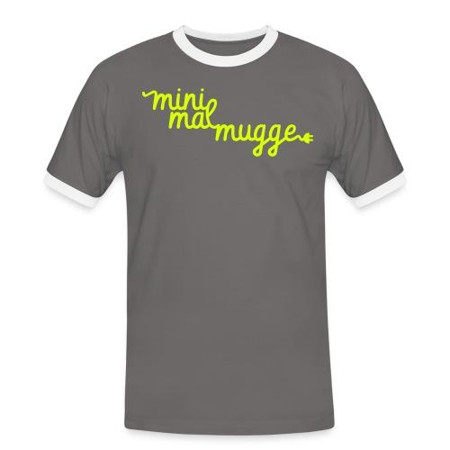 DJ Minimalmugge Diskjockey Sachsen - Männer Kontrast-T-Shirt