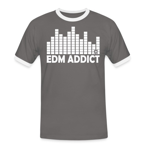 EDM addict White.png - Men's Ringer Shirt