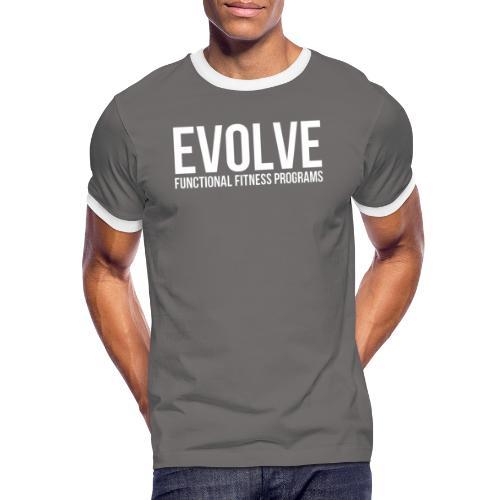 evolve white - Kontrast-T-shirt herr