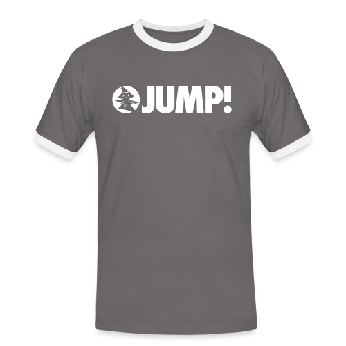 JUMP! - by Forest Jump Ultimate Frisbee Team - Männer Kontrast-T-Shirt