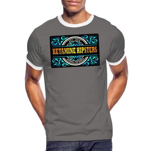 Black Vintage - KETAMINE HIPSTERS Apparel - Men's Ringer Shirt