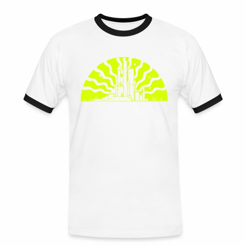 Fairytale Castle Sunrise - Männer Kontrast-T-Shirt