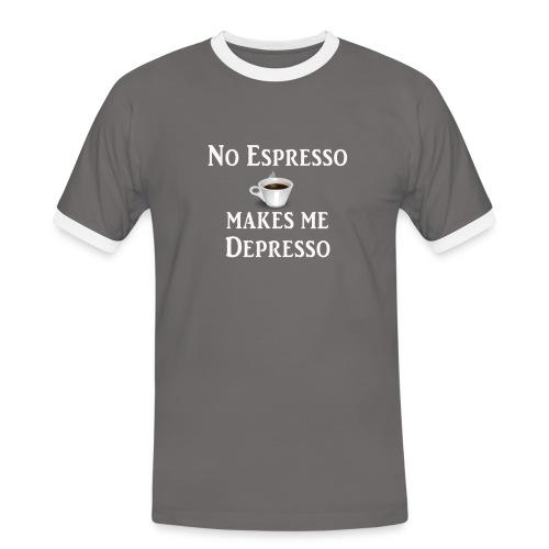 No Esspresso Depresso - Fun T-shirt coffee lovers - Men's Ringer Shirt