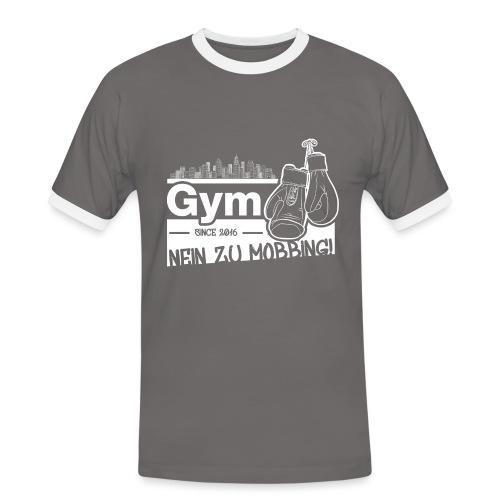 Nein zu Mobbing Men Druckfarbe weiß - Männer Kontrast-T-Shirt