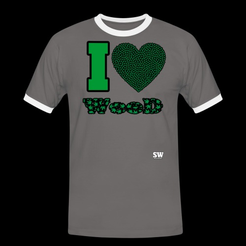 I Love weed - T-shirt contrasté Homme