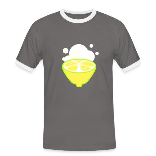 Lemon - Männer Kontrast-T-Shirt
