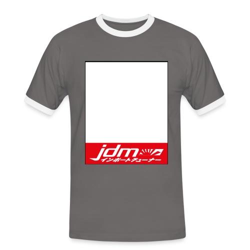 Kanjo Plate - Männer Kontrast-T-Shirt