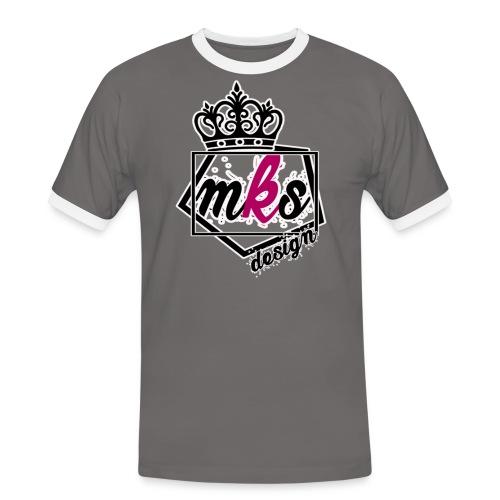 logo merkos grande - Camiseta contraste hombre