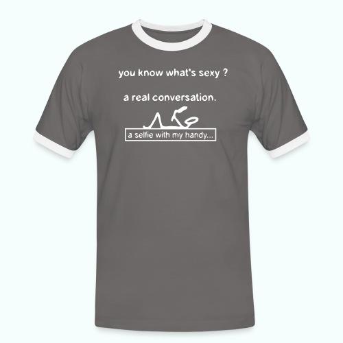 what's sexy v 1702410_13 - Männer Kontrast-T-Shirt