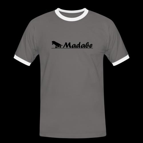Cap black - Männer Kontrast-T-Shirt