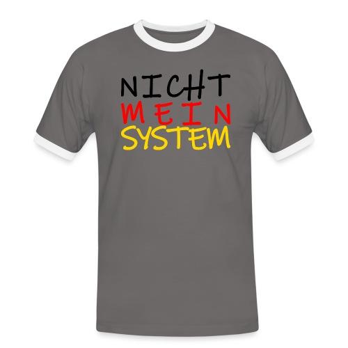 NICHT MEIN SYSTEM - Männer Kontrast-T-Shirt