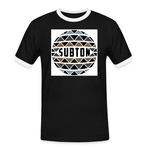 wereldbol_subton2-jpg - Men's Ringer Shirt
