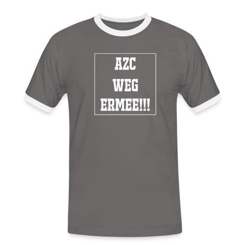 Protest t-shirt tegen de vluchtelingen. - Mannen contrastshirt