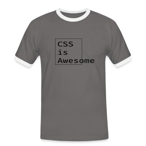 cssawesome - black - Mannen contrastshirt