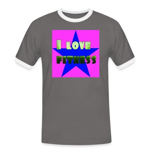 I love fitness 2 - Camiseta contraste hombre