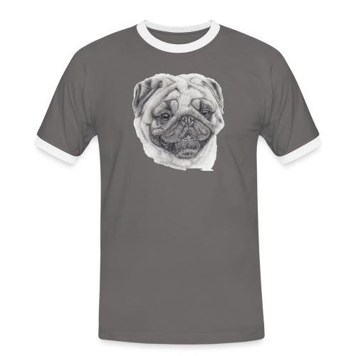 Pug mops 2 - Herre kontrast-T-shirt