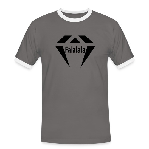 J.O.B Diamant Falalala - Männer Kontrast-T-Shirt