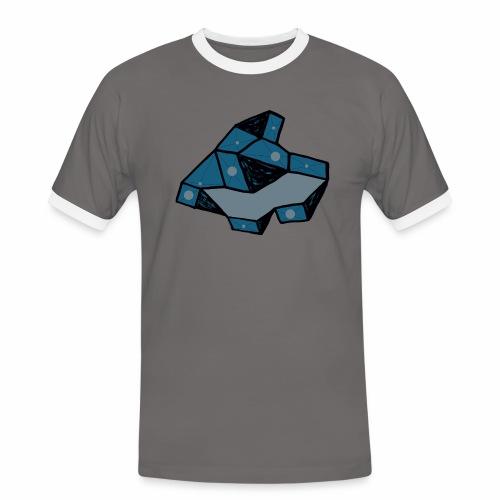 dot rock - Mannen contrastshirt
