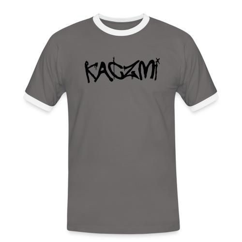 kaczmi - Koszulka męska z kontrastowymi wstawkami