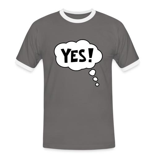 Yes - Mannen contrastshirt