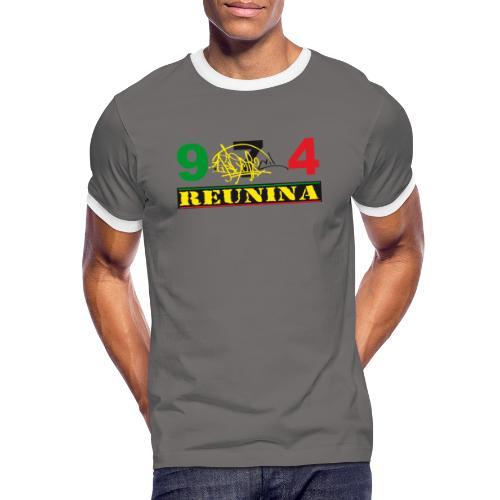 974 ker kreol ikon rasta 01 - T-shirt contrasté Homme