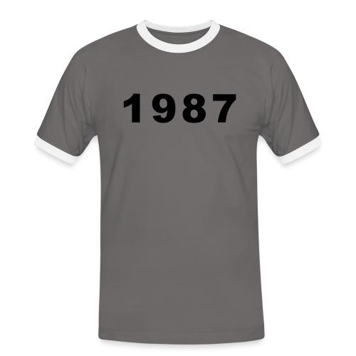 1987 - Mannen contrastshirt