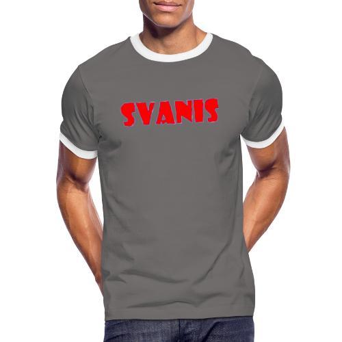 Svanis - Kontrast-T-shirt herr
