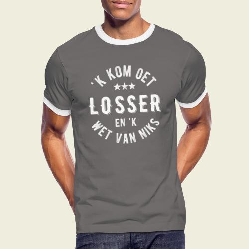 'k kom oet Losser en 'k wet van niks - Mannen contrastshirt