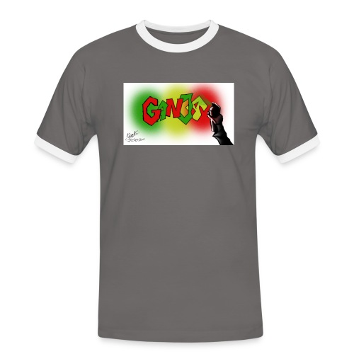 Ganja - Herre kontrast-T-shirt