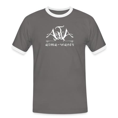 atma wares logo white - Mannen contrastshirt