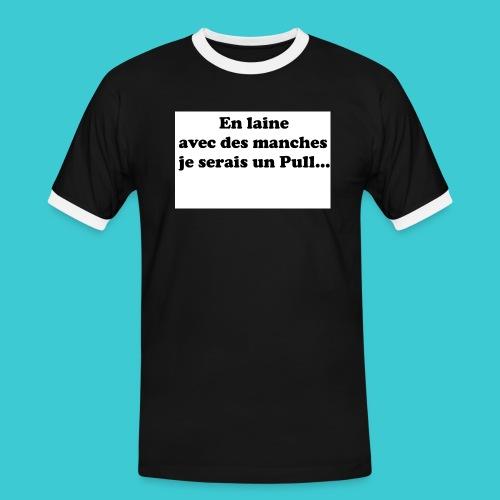 t-shirt humour - T-shirt contrasté Homme