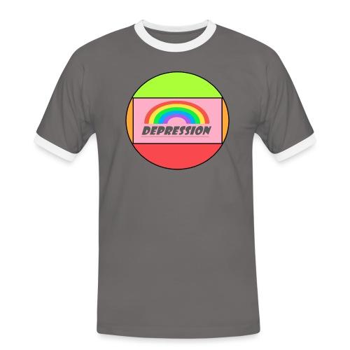 Depressed design - Men's Ringer Shirt
